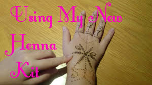using my new henna tattoo kit for the 1st time henna tattoos