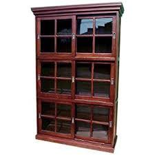 Sliding Door Bookcase Amazon Com D Art Collection Open Front Bookcase Large Kitchen