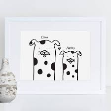 family dogs print by a is for alphabet notonthehighstreet com