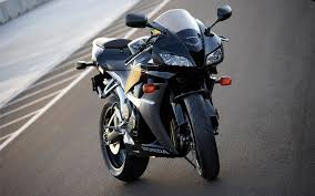 cbr bike pic popular honda cbr black bike on road high quality photo