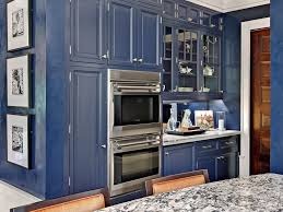 kitchen rustic blue kitchen cabinet ideas with glass shelving and