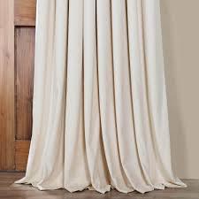 ivory extra wide grommet blackout velvet curtain