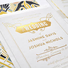 wedding invitations gold coast gold foil wedding invitation gatsby wedding invitation