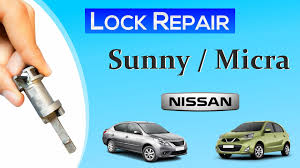 nissan sunny micra lock repair youtube