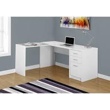 Corner Computer Desk White Monarch Computer Desk White Corner With Tempered Glass