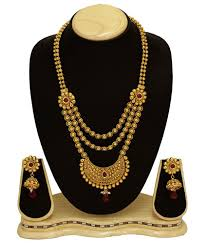 copper necklace set images Satyam jewellery nx golden copper necklace set buy satyam jpg
