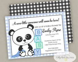 Panda Baby Shower Invitations - baby panda baby shower party printable party invitation u0026 tag