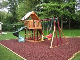 Landscape Ideas For Backyard Kids Friendly Backyard Landscape Ideas With Wooden Kids Playground