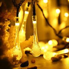 qedertek decorative outdoor string lights 19 2ft 30 led crystal