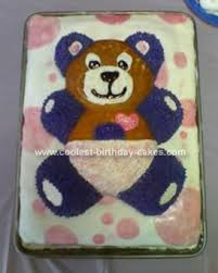 coolest baby shower teddy bear cake