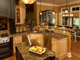 Exciting Small Galley Kitchen Remodel Ideas Pics Inspiration Best Blue Granite On Island In Kitchen Distressed Cherry Cabinetry