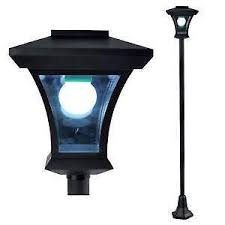 solar powered outdoor l post lights solar l post ebay