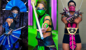 Mileena Halloween Costume Genderbent Mortal Kombat Kitana Jade Mileena