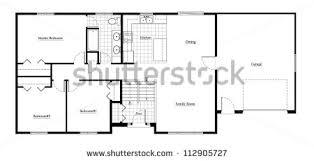 bi level house floor plans split level house floor plan room stock illustration 112905727