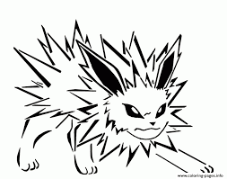 jolteon eevee pokemon evolutions coloring pages printable