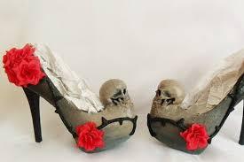Skull High Heels Women Grim Reaper Dead Skull Flower Vine Thorn Custom Sculpted