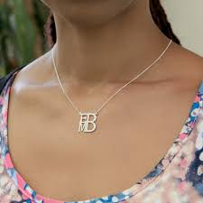 personalized monogram necklace personalized monogram necklace square shape shop online deals
