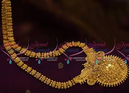 gold plated simple necklace images Nl7901 latest design simple gold plated haram long necklace JPG