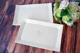 personalized platters wedding set of personalized rectangular platters unique wedding gift for bot