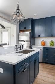 blue kitchen cabinets kitchen trend navy blue cabinets mcgillivray