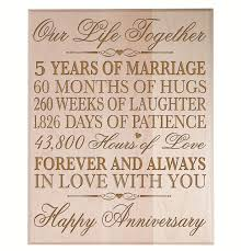 fifth anniversary gift ideas for him 5 year wedding anniversary gift ideas