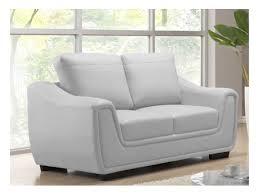 canapé simili cuir blanc canapé 2 places simili cuir pelune blanc acheter ce produit