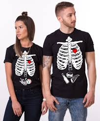 Halloween T Shirts For Girls Maternity Couple Shirts Halloween Skeleton Shirts Baby