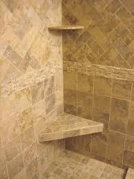 travertine tile shower design idea use lighter color tile