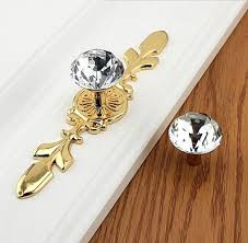 kitchen cabinet door handles with backplate drawer knobs pulls handles rhinestone silver gold clear dresser glass kitchen cabinet door furniture bling back plate