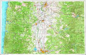 Eugene Map Download Topographic Map In Area Of Eugene Salem Corvallis