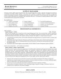 Procurement Manager Resume Sample by Logistics Resume Logistics Resume Logistics Management Specialist