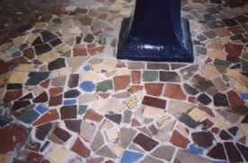 tile mosaic floor in swanage heritage centre