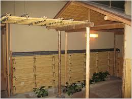 Patio Half Wall Outdoor Beautiful Bamboo Patio With Half Wall Fencing Aesthetic