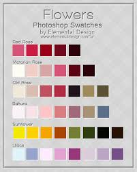 flowers color swatches by ed elementaldesign deviantart com on