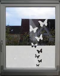 window privacy decal butterflies etched or frosted glass