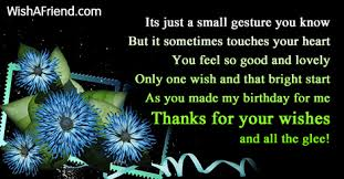 Thanksgiving Sms For Birthday Wishes Thank You For The Birthday Wishes
