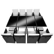 Esszimmerstuhl Edelstahl Geb Stet Poly Rattan Sitzgarnitur Gartenmöbel Garnitur Lounge 8x Stuhl