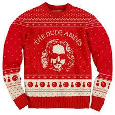 christmas sweaters big lebowski the dude abides christmas sweater