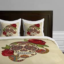 amazon com valentina ramos sugar skull duvet cover home u0026 kitchen