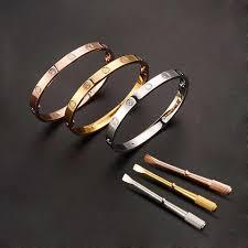 titanium steel love bracelet images Luxury titanium steel love bracelet bangles for women bangle jpg