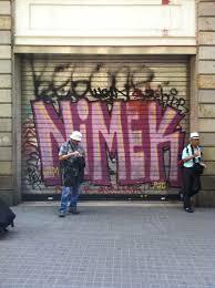 The Bench Graffiti Barcelona U2013 Nimek U2013 The Bench 504 Graffiti Store