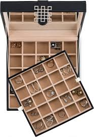 jewelry box 50 earring organizer box 50 sections choice of 3 colors glenor co