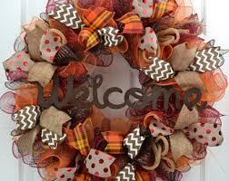 fall welcome wreath thanksgiving mesh wreath thanksgiving