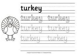 thanksgiving handwriting worksheets