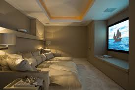 home theatre with a deep cushion couch i like this better than