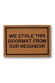 hautelook home decor we stole this doormat from our neighbor brown coir doormat by