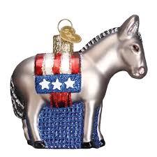 amazon com old world christmas democratic donkey glass blown