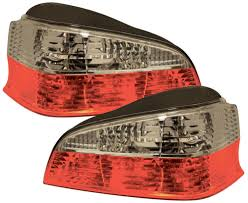 mr peugeot peugeot 106 mk2 96 04 rear tail lights jewel style red clear