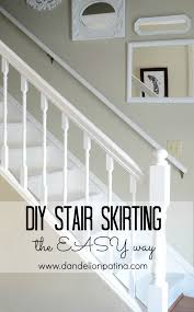 stair skirting diy dandelion patina