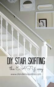 Diy Molding by Stair Skirting Diy Dandelion Patina
